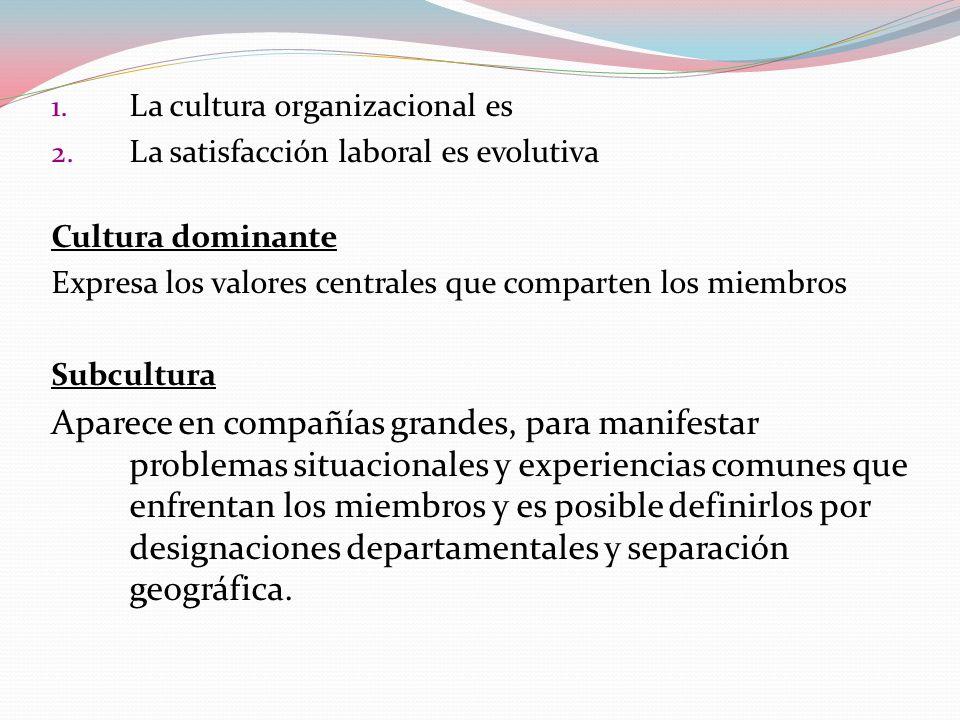 La cultura organizacional es