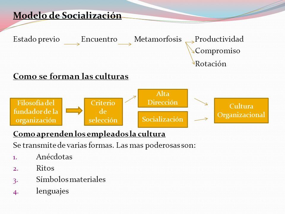 Modelo de Socialización