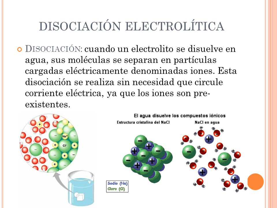 DISOCIACIÓN ELECTROLÍTICA
