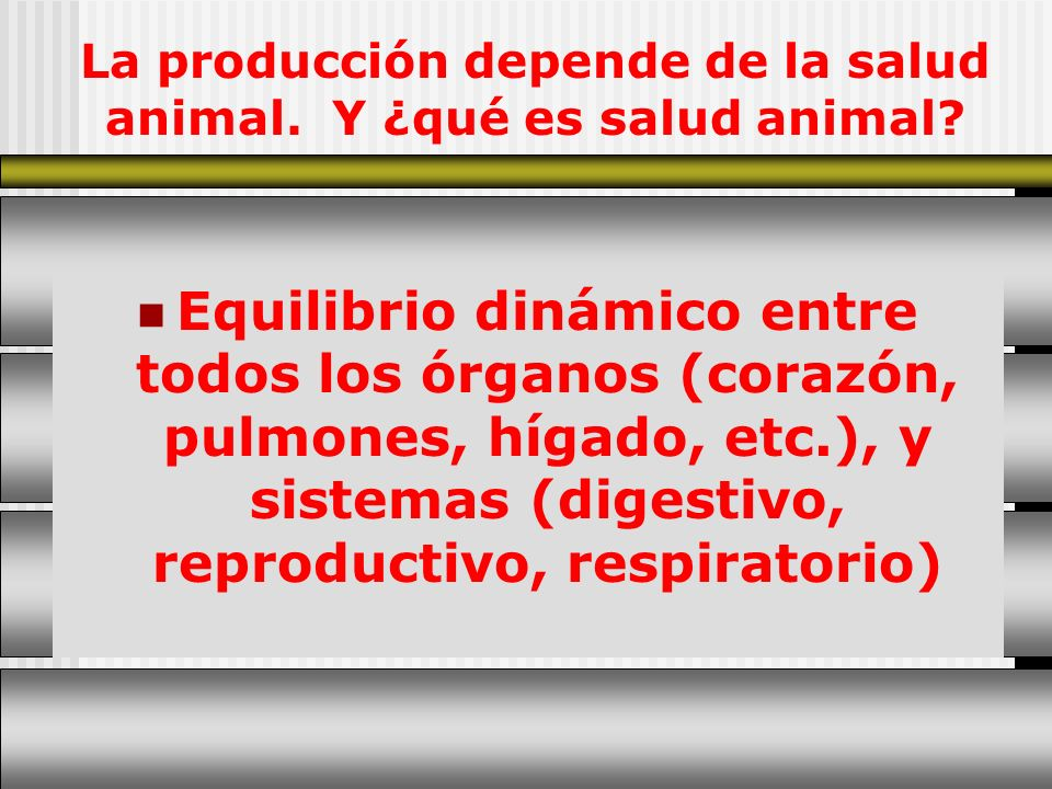La producción depende de la salud animal. Y ¿qué es salud animal