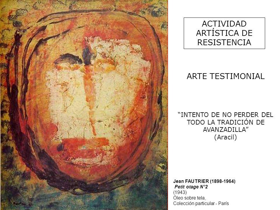 ACTIVIDAD ARTÍSTICA DE RESISTENCIA