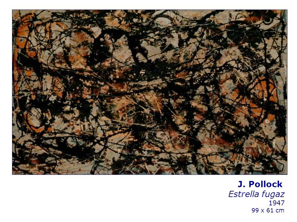 J. Pollock Estrella fugaz 1947 99 x 61 cm