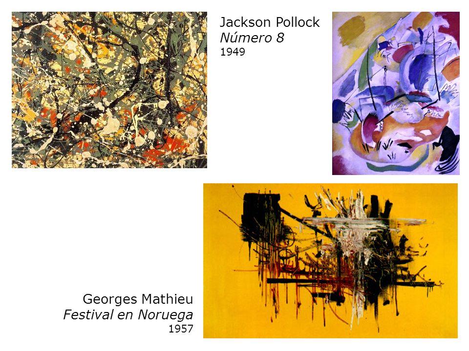 Jackson Pollock Número 8 1949 Georges Mathieu Festival en Noruega 1957