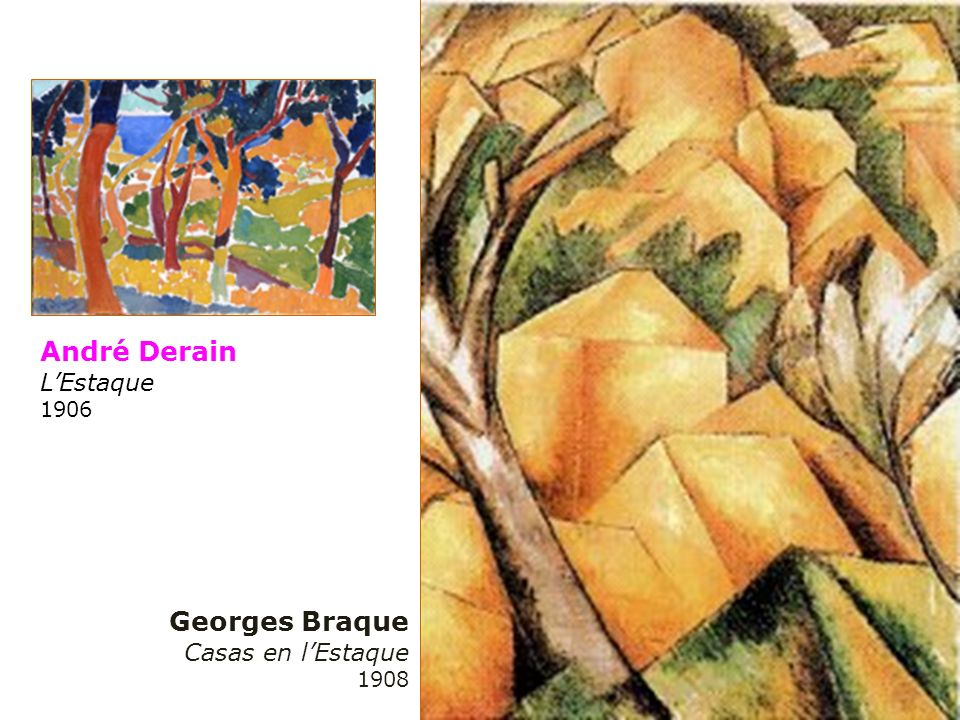 André Derain L'Estaque 1906 Georges Braque Casas en l'Estaque 1908
