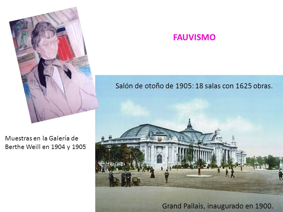 FAUVISMO Salón de otoño de 1905: 18 salas con 1625 obras.