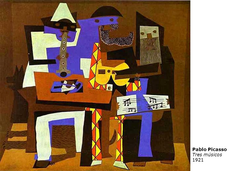 Pablo Picasso Tres músicos 1921