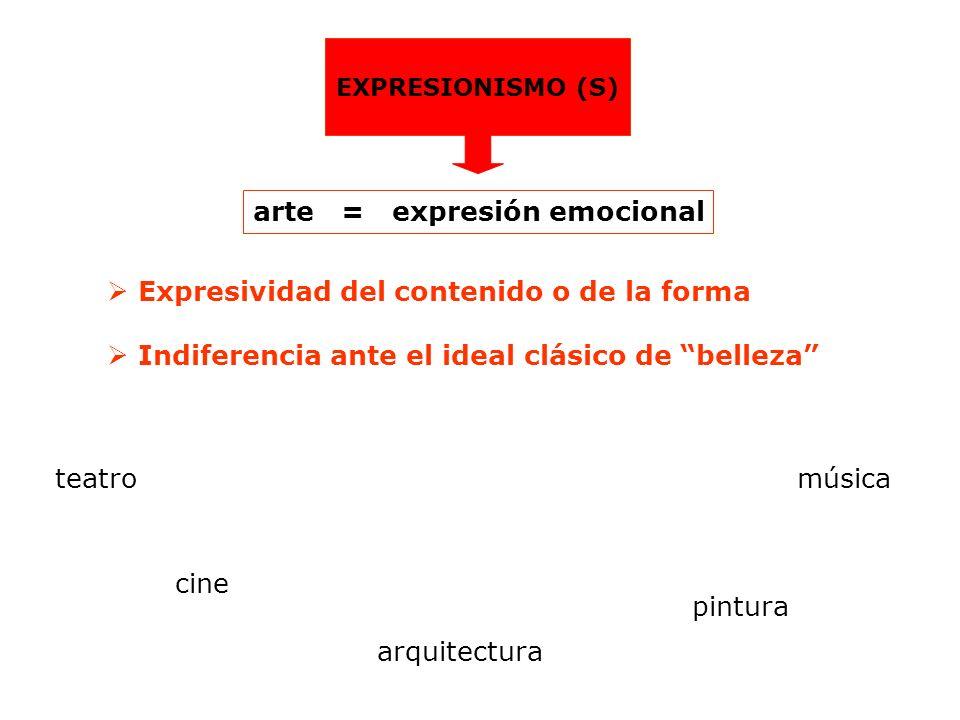 arte = expresión emocional