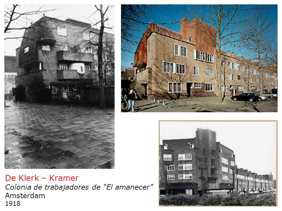 De Klerk – Kramer Colonia de trabajadores de El amanecer Amsterdam