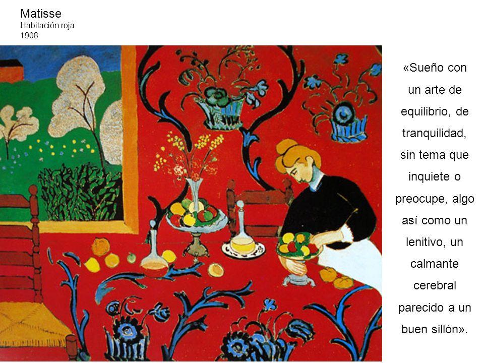 Matisse Habitación roja. 1908.