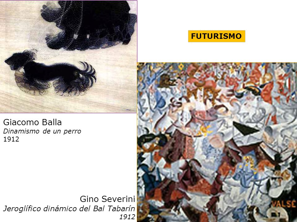Giacomo Balla Gino Severini FUTURISMO