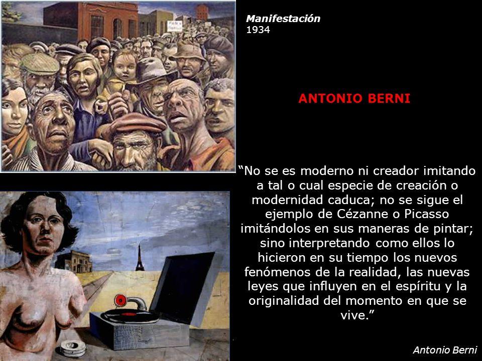 Manifestación 1934. ANTONIO BERNI.