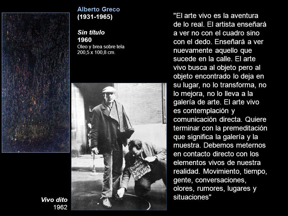 Alberto Greco (1931-1965) Sin título. 1960 Oleo y brea sobre tela. 200,5 x 100,8 cm.