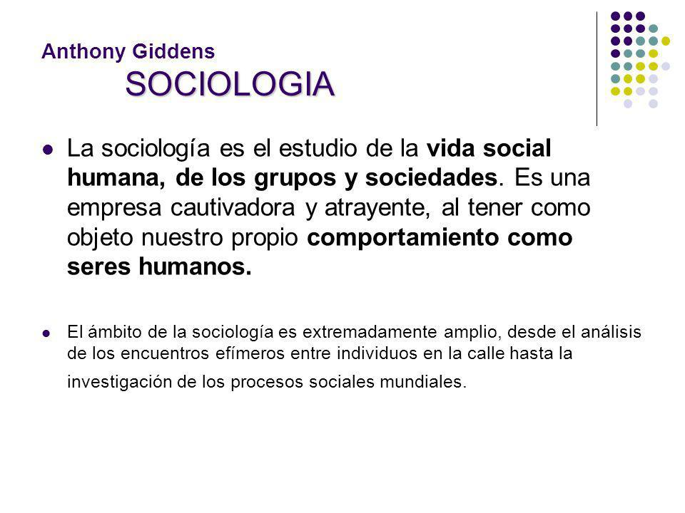 Anthony Giddens SOCIOLOGIA
