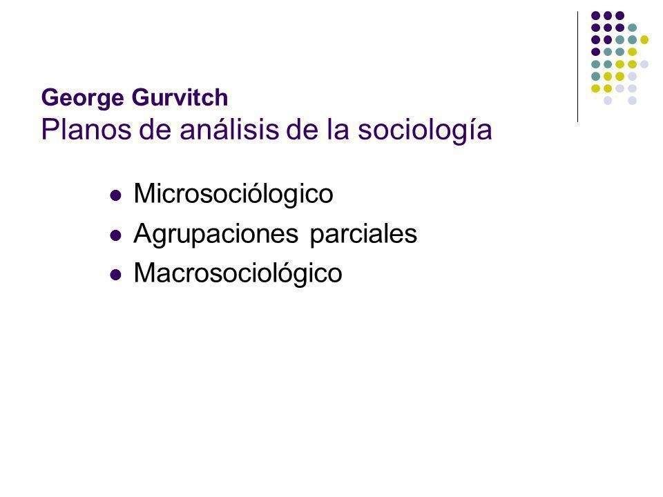 George Gurvitch Planos de análisis de la sociología