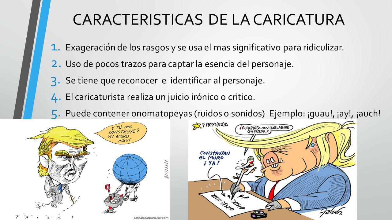 CARACTERISTICAS DE LA CARICATURA