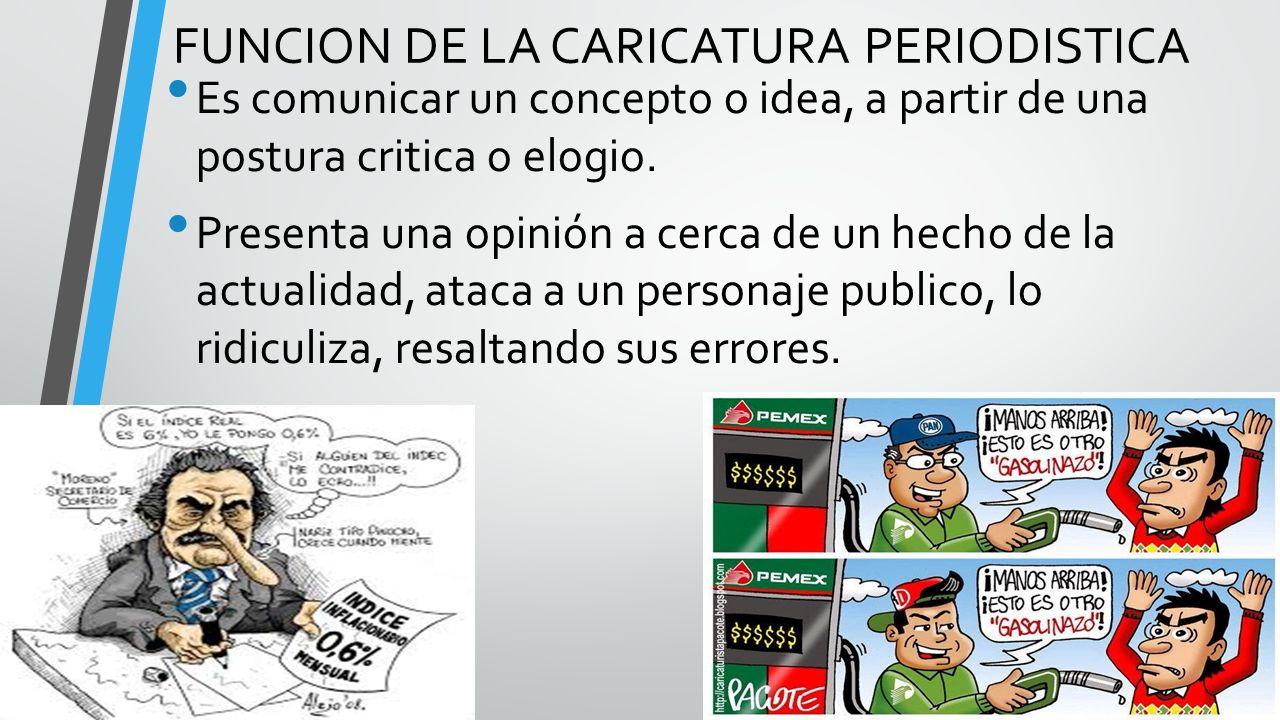 FUNCION DE LA CARICATURA PERIODISTICA