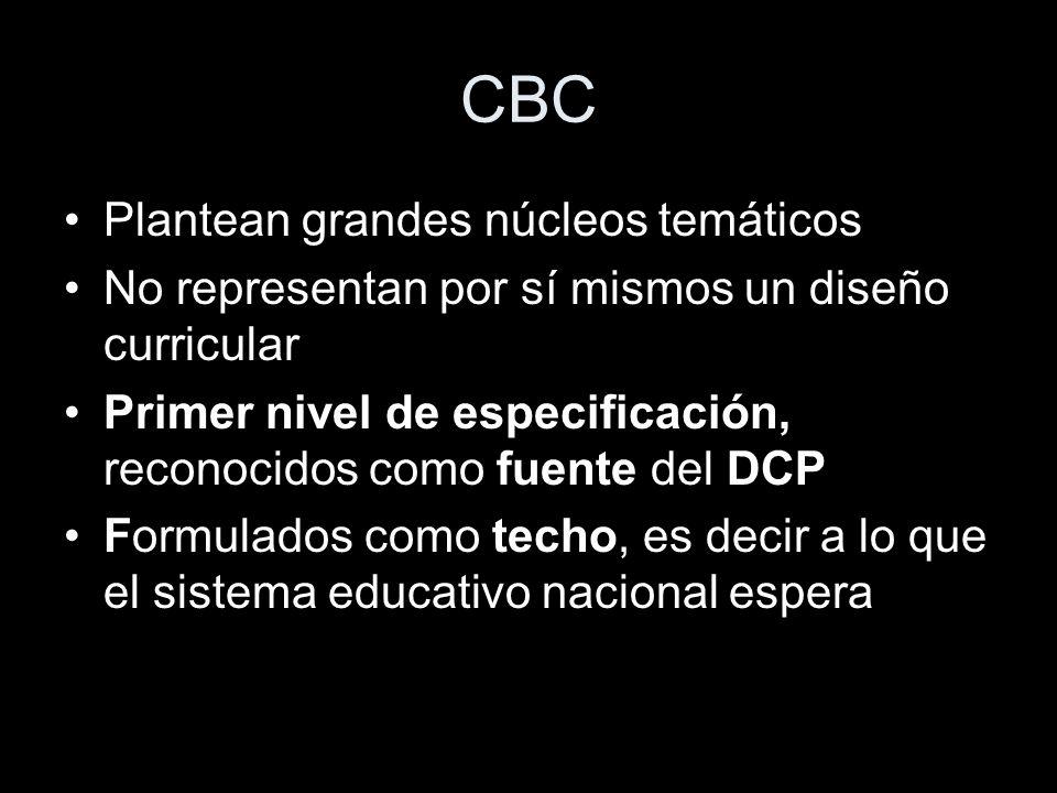 CBC Plantean grandes núcleos temáticos