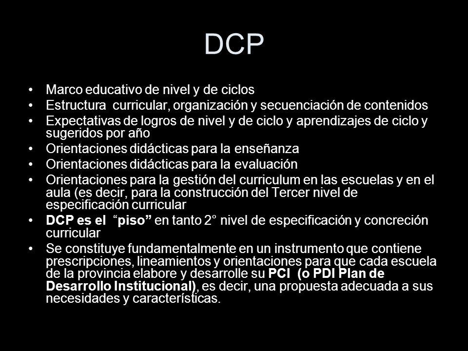 DCP Marco educativo de nivel y de ciclos