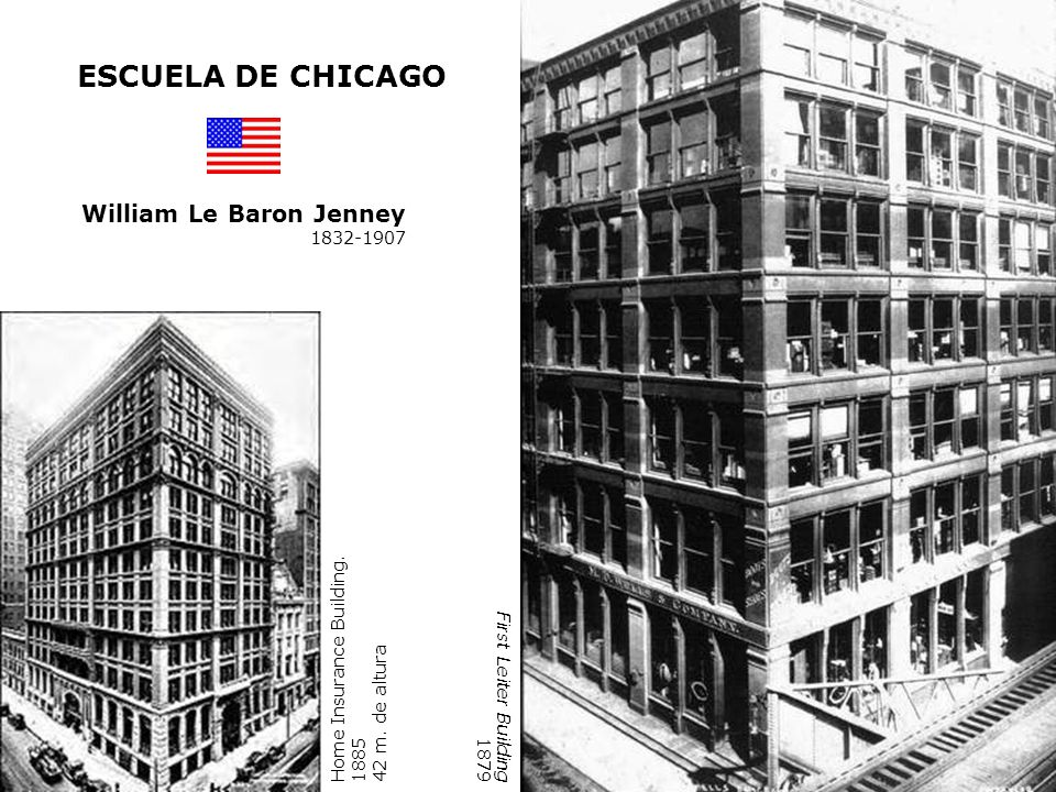 ESCUELA DE CHICAGO William Le Baron Jenney 1832-1907