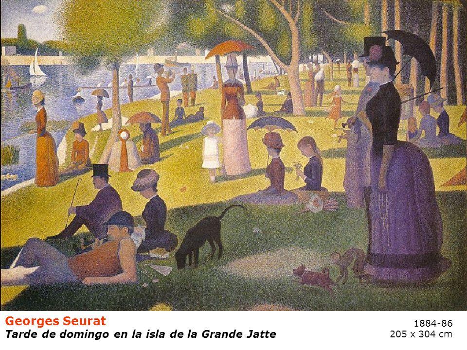 Georges Seurat Tarde de domingo en la isla de la Grande Jatte 1884-86