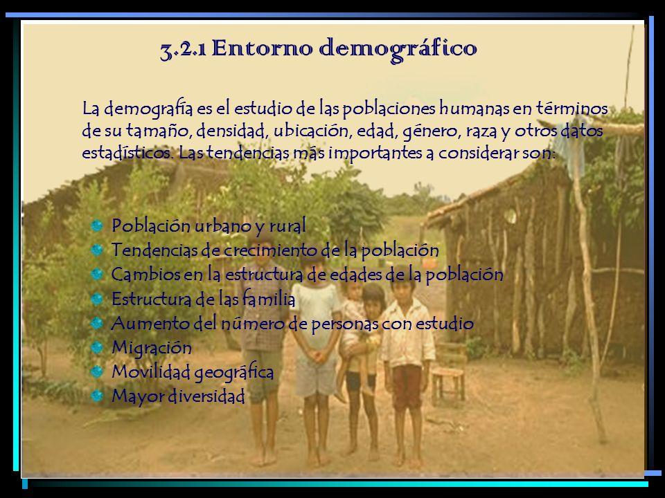 3.2.1 Entorno demográfico