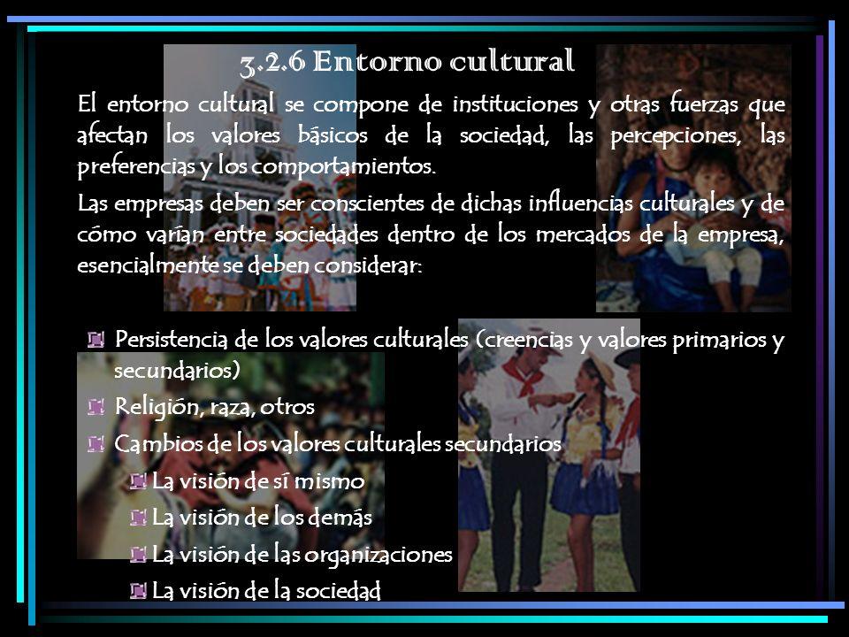 3.2.6 Entorno cultural