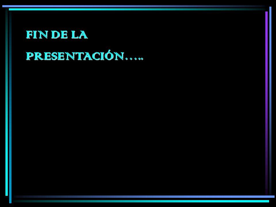 FIN DE LA PRESENTACIÓN…..