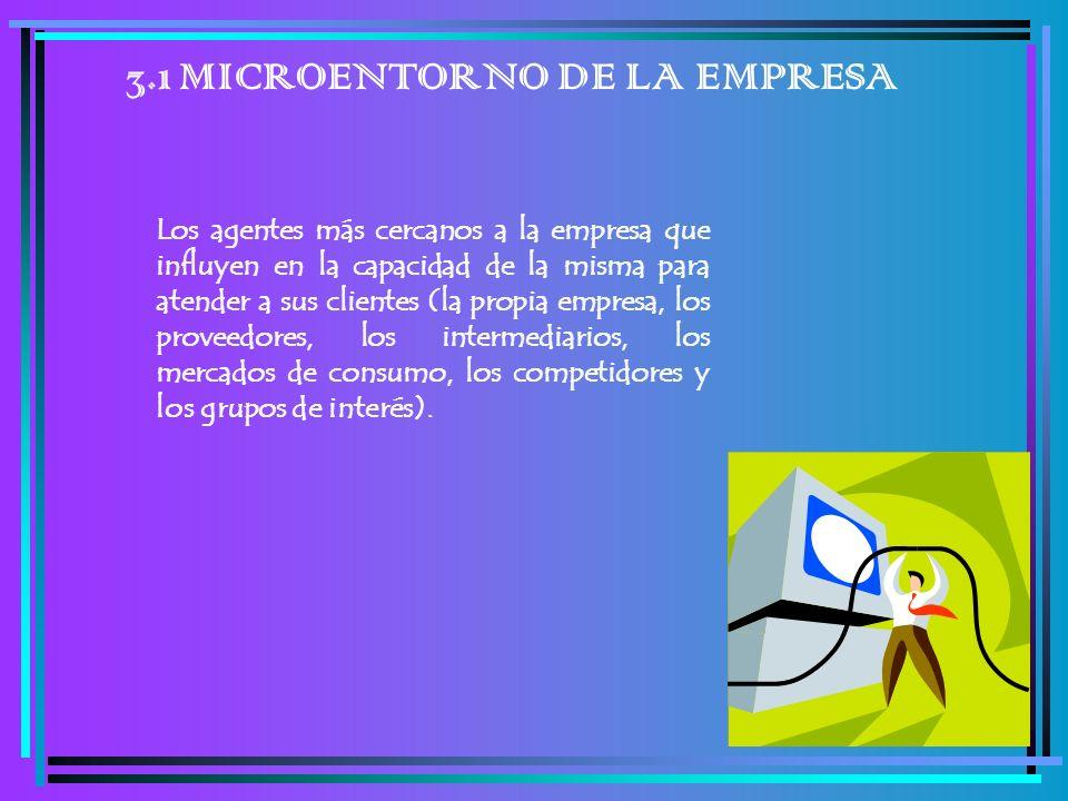 3.1 MICROENTORNO DE LA EMPRESA