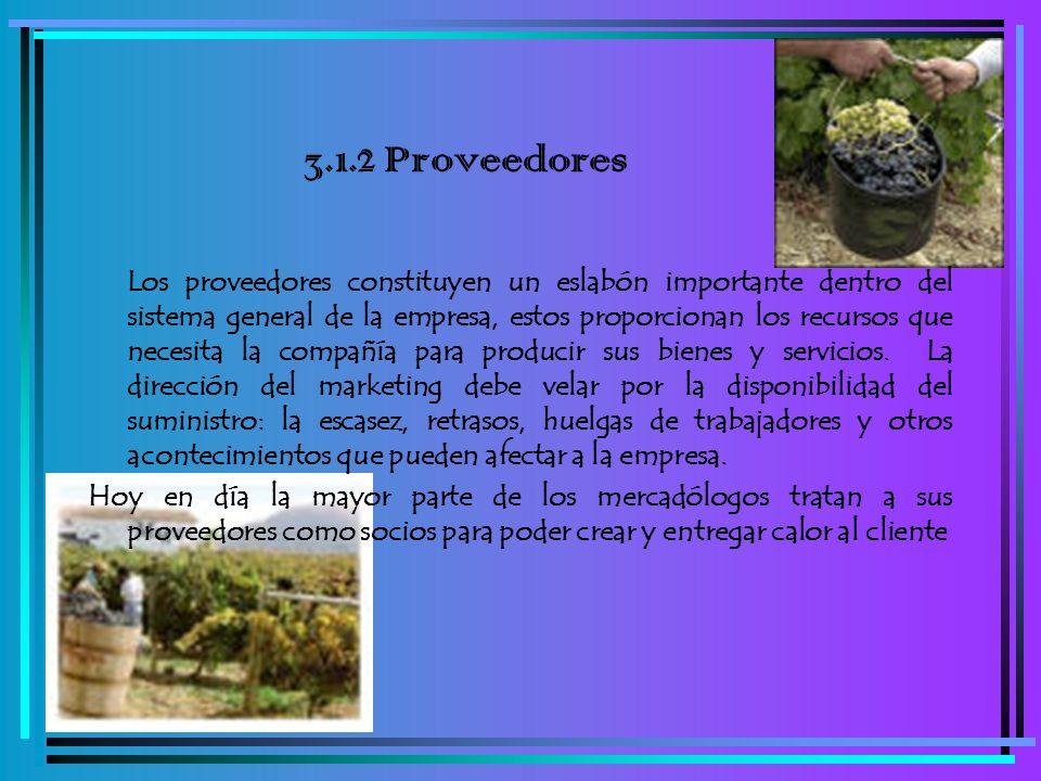 3.1.2 Proveedores