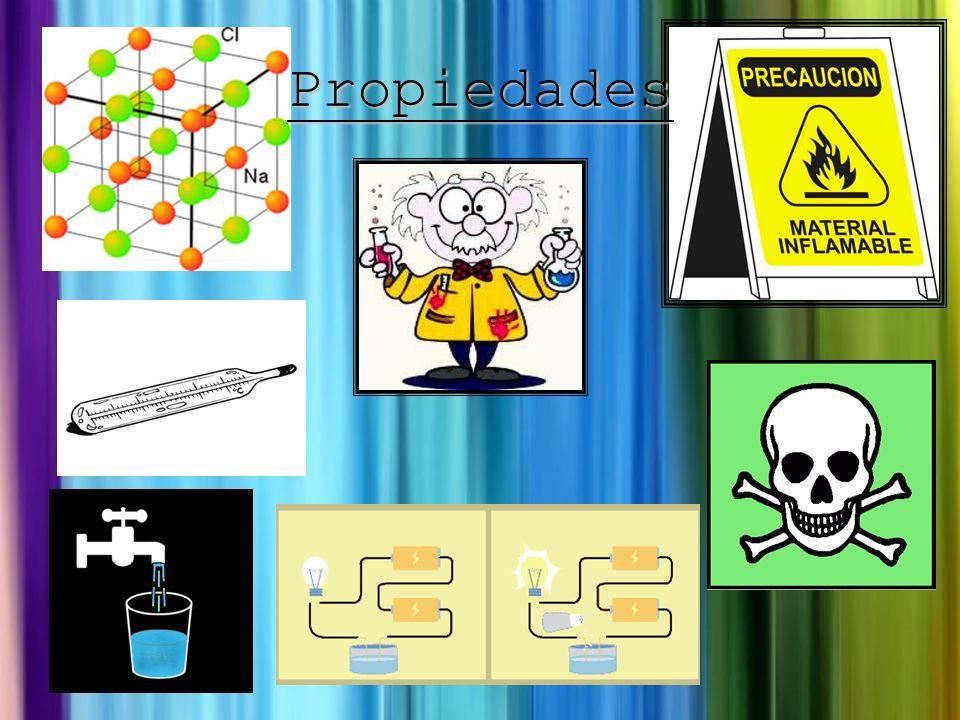 Propiedades Tóxicos Conducir la electricidad Estructuras cristalinas