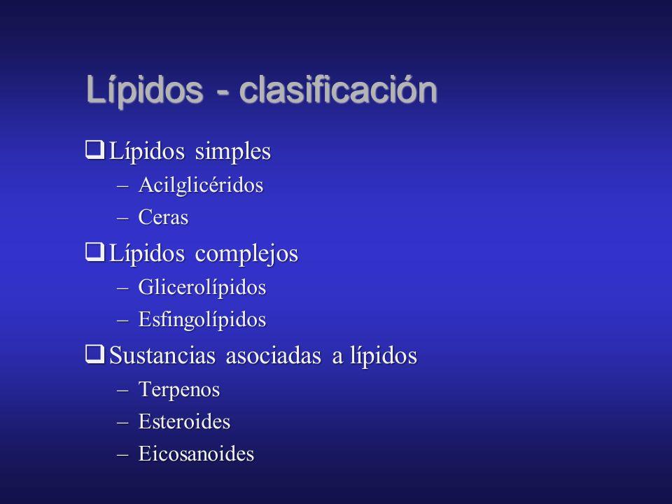 Lípidos - clasificación