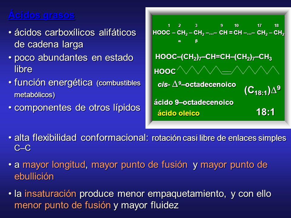 • ácidos carboxílicos alifáticos de cadena larga