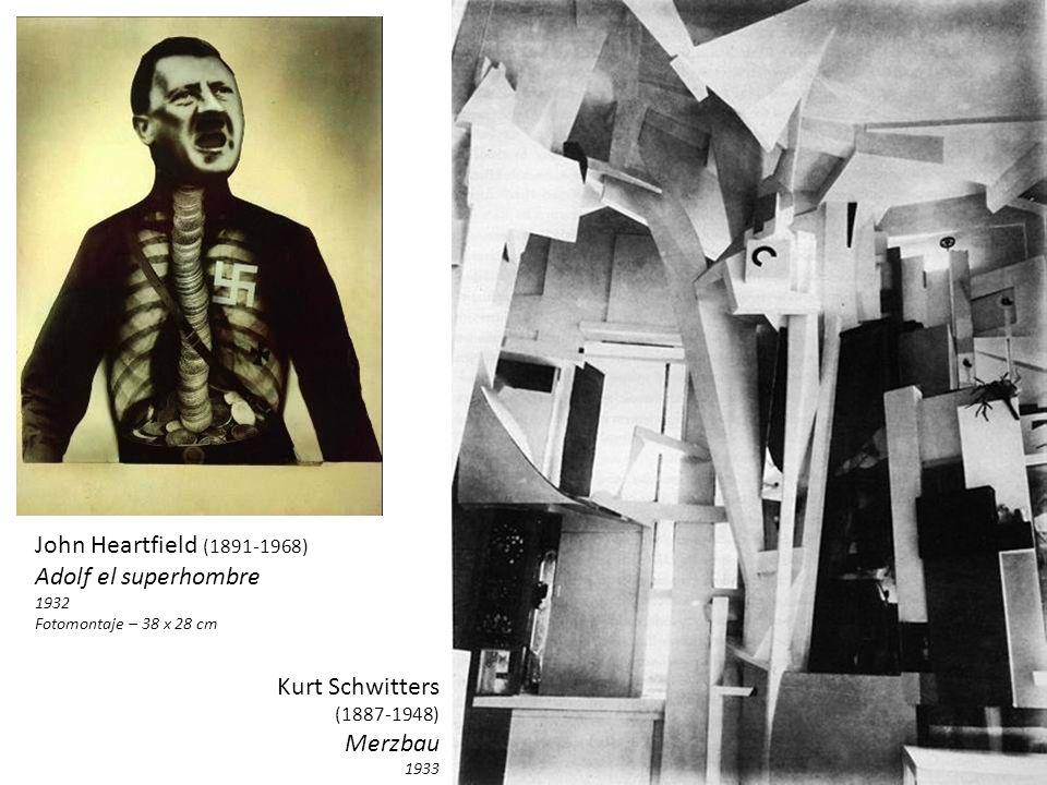 John Heartfield (1891-1968) Adolf el superhombre Kurt Schwitters