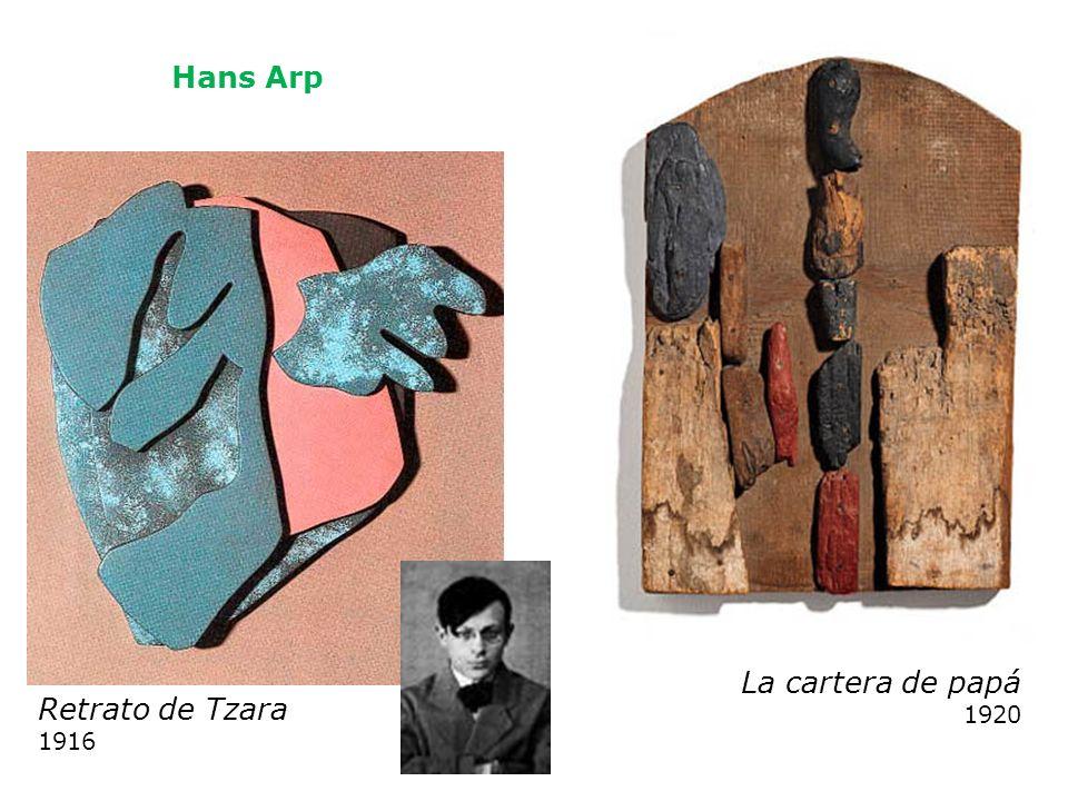 Hans Arp La cartera de papá 1920 Retrato de Tzara 1916