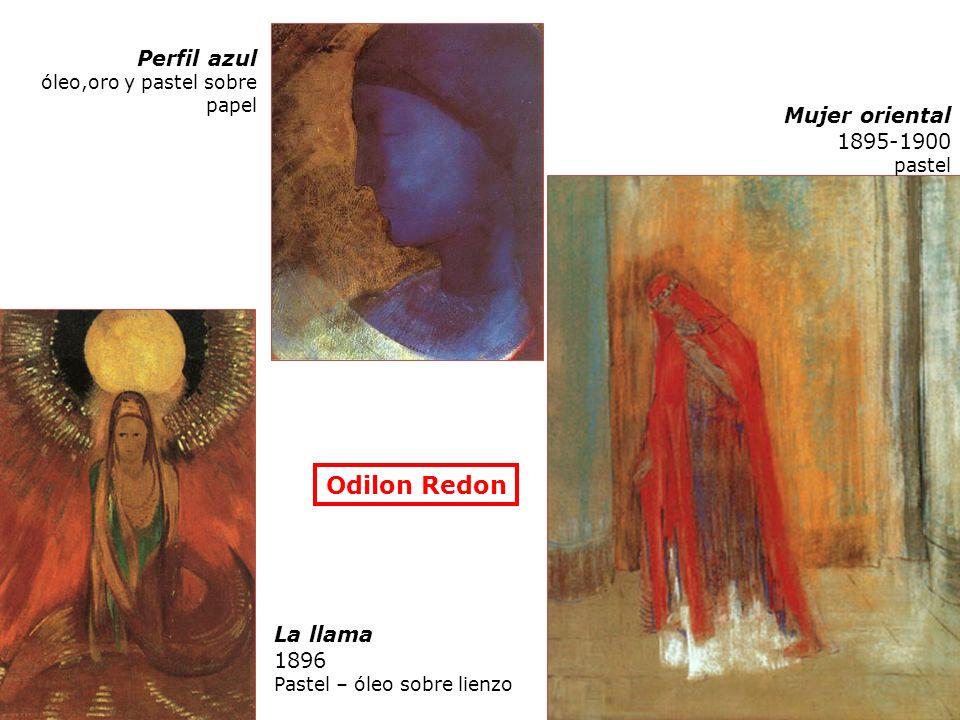 Odilon Redon Perfil azul Mujer oriental 1895-1900 La llama 1896