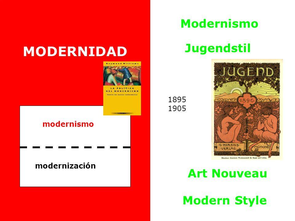 MODERNIDAD Modernismo Jugendstil Art Nouveau Modern Style 1895 1905