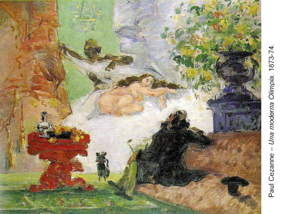 Paul Cezanne – Una moderna Olimpia. 1873-74.