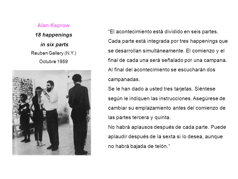 Alan Kaprow 18 happenings in six parts