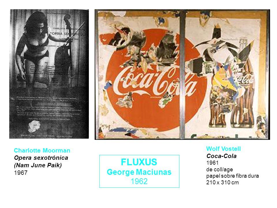 FLUXUS George Maciunas 1962 Wolf Vostell Coca-Cola 1961