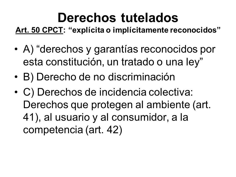 Derechos tutelados Art