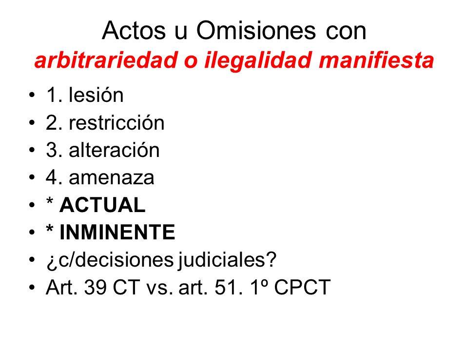 Actos u Omisiones con arbitrariedad o ilegalidad manifiesta