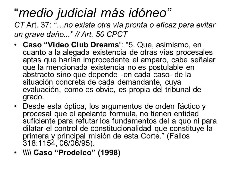 medio judicial más idóneo CT Art