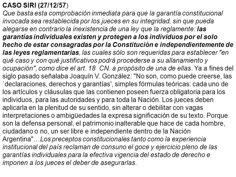 CASO SIRI (27/12/57)