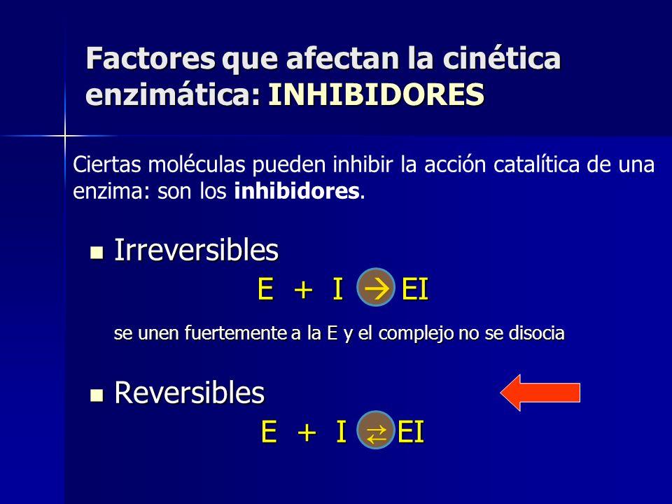 Factores que afectan la cinética enzimática: INHIBIDORES