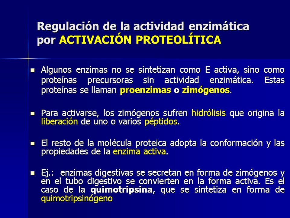 Regulación de la actividad enzimática por ACTIVACIÓN PROTEOLÍTICA
