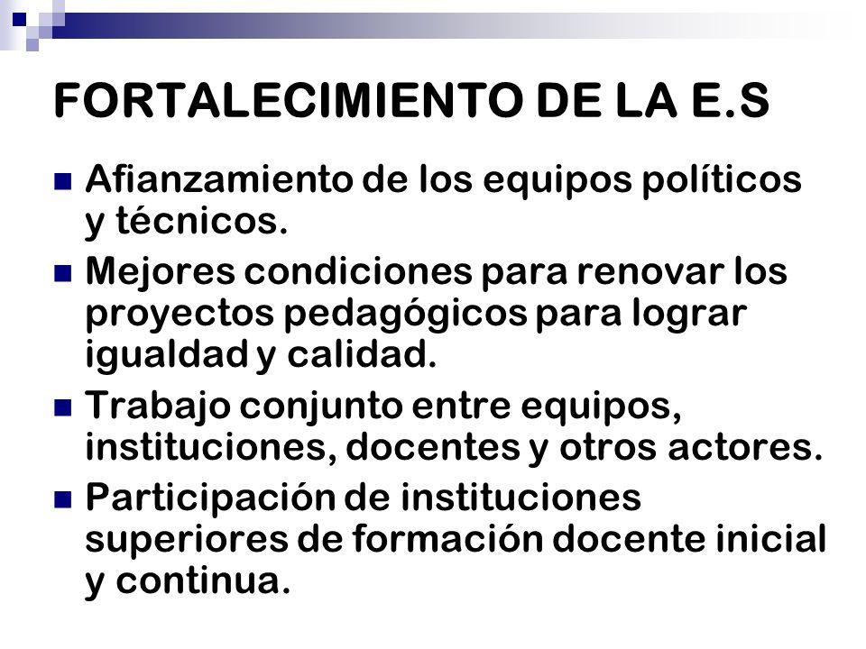 FORTALECIMIENTO DE LA E.S