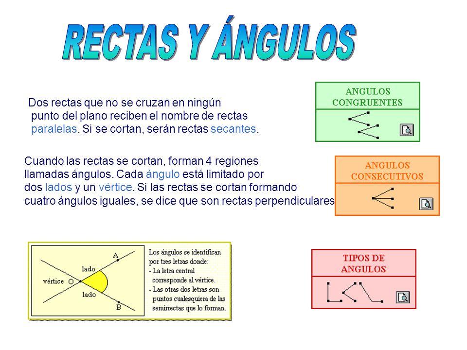 RECTAS Y ÁNGULOS Dos rectas que no se cruzan en ningún