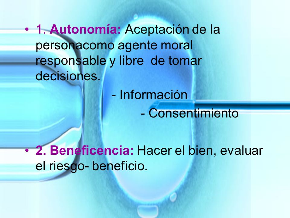 1. Autonomía: Aceptación de la persona
