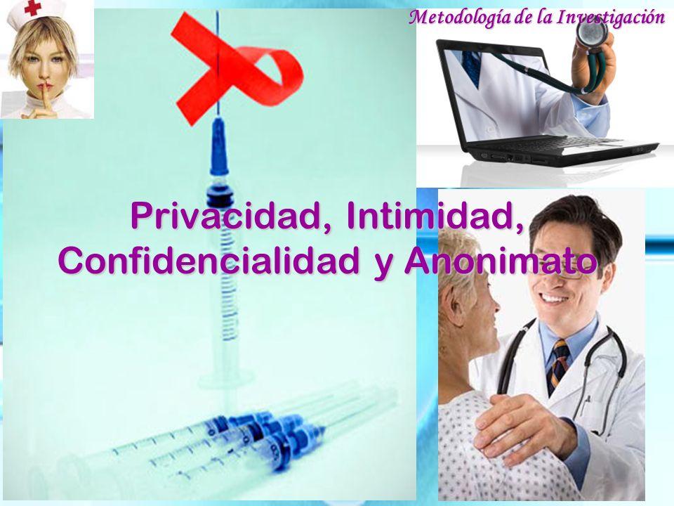 Privacidad, Intimidad, Confidencialidad y Anonimato
