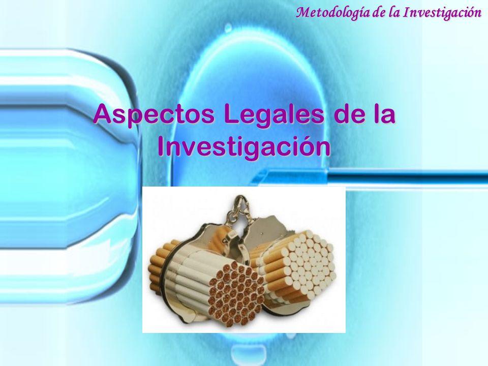 Aspectos Legales de la Investigación